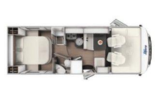 Autocaravana Ocean 725 integral plano