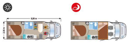 Autocaravana Ilusion XMK 695 plano