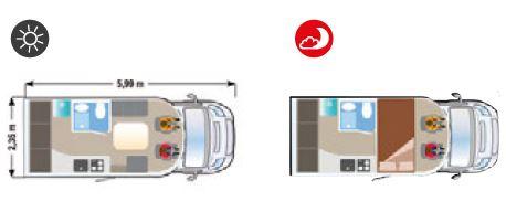 Autocaravana Ilusion XMK 590D H plano