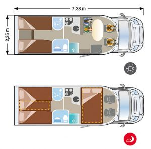 Autocaravana Ilusion XMK 740 plano