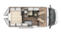 Furgoneta camper Laser 540 plano